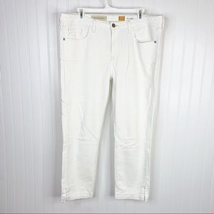Anthropologie Pilcro Stet Fit White Pants Size 32
